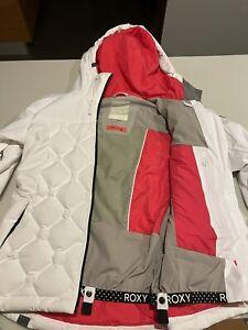 White Roxy ski jacket. Size Small Womens