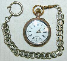 Alte Herren - Taschenuhr Silber 800 mit Kette