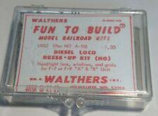 Vintage Walthers U822 HO Athearn F7/9 Diesel Loco Dress-Up Kit BLACK GRABS  822
