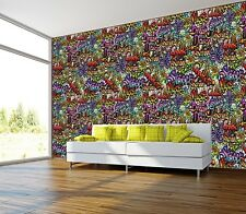 CITY STREET GRAFFITI TEXTURES Photo Wallpaper Wall Mural COLORFULL ART 335x236cm