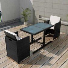 vidaXL Conjunto de Muebles Jardín 7 Piezas Poli Ratán Sintético Varios Colores