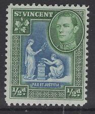 ST.VINCENT SG149 1938 ½d BLUE & GREEN MNH
