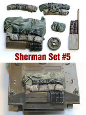 1/35 scale resin Sherman Engine Deck and Stowage Sets #5 WW2 tank military model