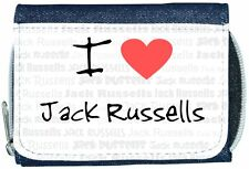 I Love Heart Jack Russells Denim Wallet