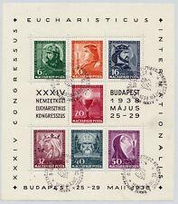HUNGARY - 1938 Eucharistic Congress Miniature Sheet, used, as scan. NH.