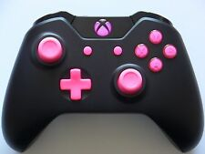 New Matte Black & Pink Xbox One Wireless Controller w/ 3.5mm Headset Jack