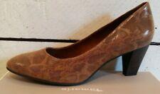 Ladies Tamaris Cognac Size 40 Python Look Leather Court Shoes