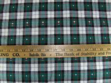 Vintage Mission Valley Golf Golf Ball Golfer Green Check Plaid Cotton Fabric