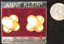 New Original Card Old Stock ANNE KLEIN Goldtone Letter X Shape Clip-On Earring 3