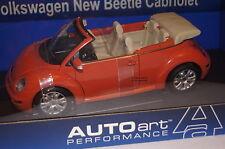 VW New Beetle Cabrio orange 1:18 Autoart neu & OVP 79754