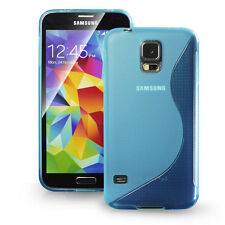 [Extreme Protection] Durable S Type TPU Case for Samsung Galaxy S5 SV, LightBlue