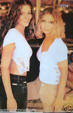 """M2M """"MARION & MARIT"""" POSTER FROM ASIA - Teen Pop Music, Cute & Sexy Girl Group"""