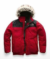 The North Face Mens Red Black Down Gotham Parka 3 Jacket Coat  X-Large XL 7580-3