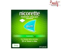 Nicorette Fresh Mint Chewing Gum, 2 mg, 210 Pieces (Stop Smoking Aid)