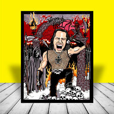 Glenn Danzig heavy metal Poster Art, misfits, artist signed, concert band, photo