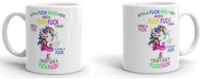 Unicorn Mug 'I Dont Give A-Fuck' Funny Novelty Gift Mug Rude Joke Unicorn Cup