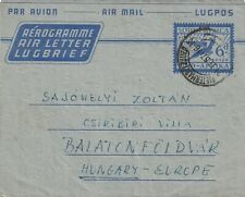 1957 South Africa airletter sent from Pietermaritzburg to Hungary