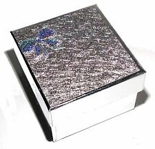 New Silver Bow Watch Jewelry Bangle Bracelet Paper Display Present Gift Box Case