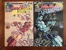 "1993 Triumphant Comics, ""The Chromium Man"" issues # 4 & 5, signed, Vf/Nm."