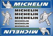 Michelin Tire Racing Decals Stickers Graphic Set Vinyl Logo + BONUS PAGE