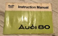 Audi 80 1977 Instruction Manual and Service Record
