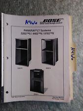 New listing Bose panaray lt 3202 4402 9702 Ii service manual original repair book speakers