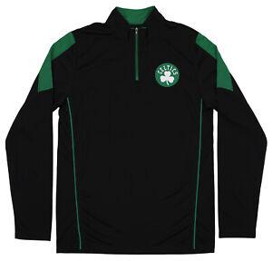 Outerstuff NBA Boston Celtics Youth 1/4 Zip Performance Pullover Shirt, Black