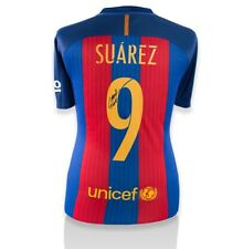 Luis Suarez firmado Camisa de Barcelona 2016-2017 - Ventilador estilo números autógrafo