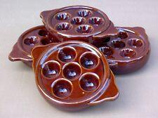 4 caquelons pour 6 escargots grès marron pour la cuisson au four CUISINE #3
