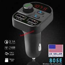 Bluetooth Car Wireless Adapter Fm Transmitter Mp3 Radio Car Kit 2 Usb Charger