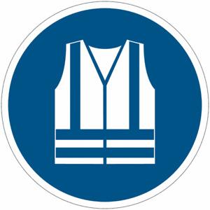 """Cartelli obbligo """"Gilet di sicurezza ad alta visibilità obbligatorio"""" M015"""