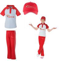 Kids Official Girl Guiding Rainbow Pack Uniform Cap Polo T-Shirt Jog Trousers