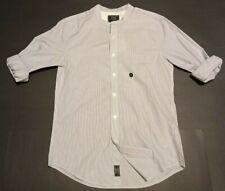 NWT New Abercrombie & Fitch Men's Striped Super Slim Poplin Shirt Small
