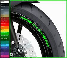 8 x ZX6R Wheel Rim Decals Stickers - 20 colors available - zx-6r 600 r zx6 636