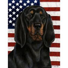Black and Tan Coonhound Patriotic Ii Flag