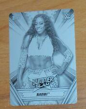 Naomi 2019 WWE Summerslam #48 Printing Plate 1/1   = 1 of 1