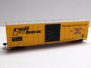 HO Scale - Roundhouse - Rail Box 50' Box Car Train SBD #141738