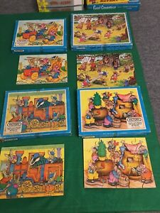 Victory Wooden Jigsaw Puzzles x4 20&30 Pieces Childrens Animals Rabbits etc
