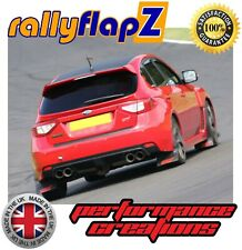 rallyflapZ SUBARU IMPREZA Hatch & Saloon (08-14) Mud Flaps Black STi Red 4mm PVC