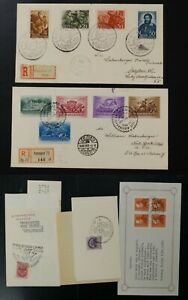 Hungary lot of 12 VF used FDC's or on pieces (k018)