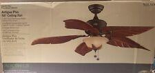 New Hampton Bay Antigua Plus Oil Rubbed Bronze 56� Ceiling Fan w/ Light Kit