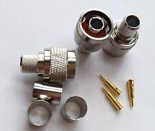 10pcs/lot N male plug crimp RG8 RG165 RG213 LMR400 RF connector