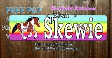 Stable door sign plaque SKEWBALD COB  printed Coloured Ali Metal not Vinyl