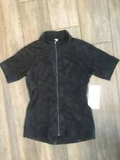 cce11a16a Lululemon Leader of the Pack Jersey BLK Black NWT Cycling Workout Jersey  Size 6