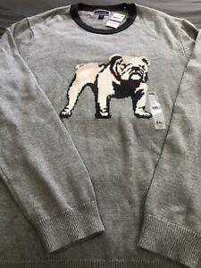 Club Room Mens Bulldog Pullover Sweater Gray XXLarge NWT