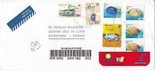 BD907) Singapore 2001 nice Double Registered Airmail cover to Uruguay