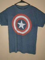 Marvel Comics Shirt Captain America Distressed Shield Logo T Shirt Size S