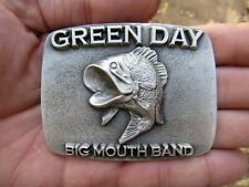 Vtg GREEN DAY Belt Buckle ROCK Concert 2003 Studio FISH Album ART Music RARE VG+