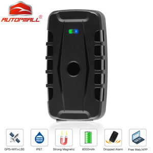 Car GPS Tracker 6000mah Waterproof Magnetic Tracking Device Drop Alarm Free APP