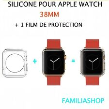 Case Cover Transparent Protection Flexible Silicone Gel Apple Watch 38MM+Film